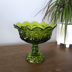 Vintage LE Smith Green Moon Stars Compote